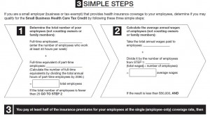 Small Business Tax Credits 3 step form
